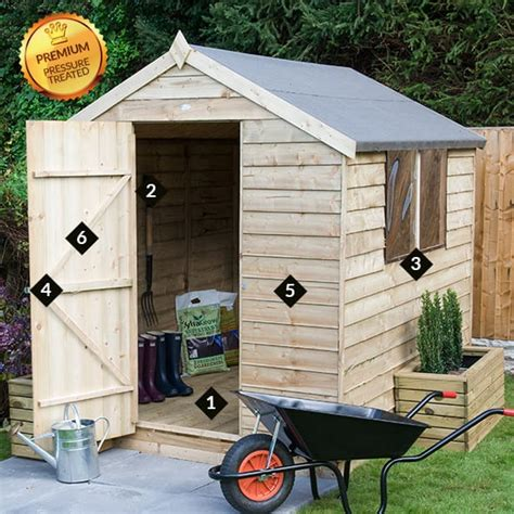 Buy A Shed Uk by 6 X 4 Forest Overlap Apex Pressure Treated Wooden Shed