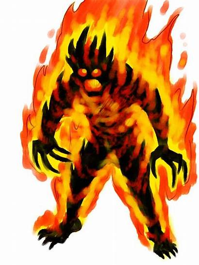 Fire Elemental Flame Concept Magic Monster Master