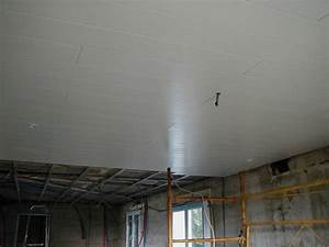dalle faux plafond pvc maison travaux With faux plafond en pvc pour cuisine
