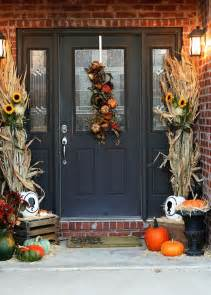 Front Door Fall Decorating