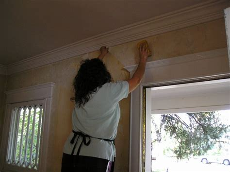 remove wallpaper glue  practical house