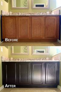 Staining Oak Kitchen Cabinets Before And After – Cabinets