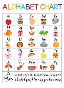 free alphabet chart in foundation font from busy little With letter charts for kindergarten
