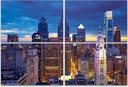 Philadelphia Skyline Landscape Artwork Panel