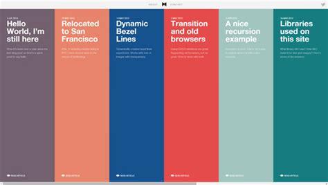 gorgeous examples  timeline  web design