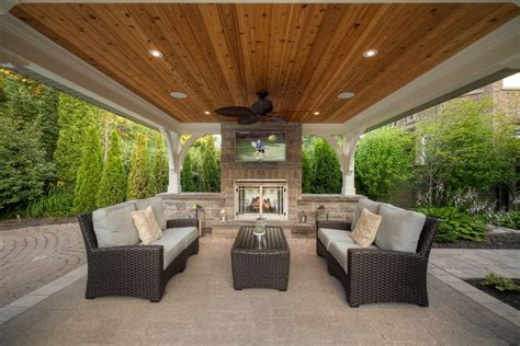landscaping ideas patio transitional with recessed
