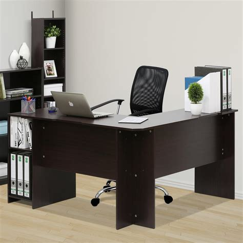 l shaped desk espresso l shaped desk design decorating espresso l