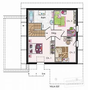 plan de maison 3 chambres salon 9 bbc d233tail du plan With construire sa maisoncom plan