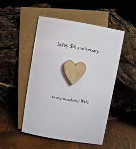 5th wedding anniversary 5th wedding anniversary card wood traditional symbol handmade keepsake husband fifth five years