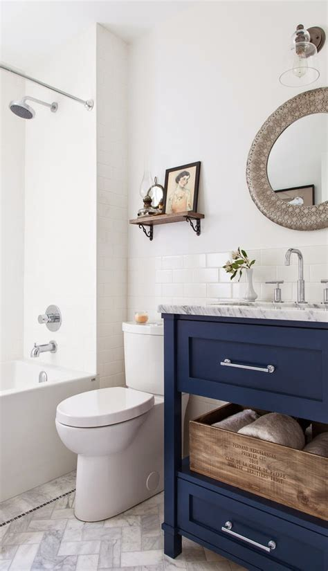 5 Navy & White Bathrooms  The Inspired Room