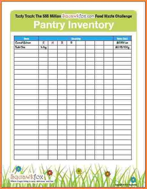 food pantry inventory spreadsheet excel spreadsheets
