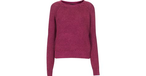 wash sweater topshop acid wash sweater in lyst