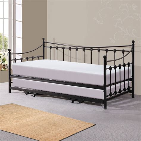 trundle bed with bed frame with trundle wood headboard for bed black