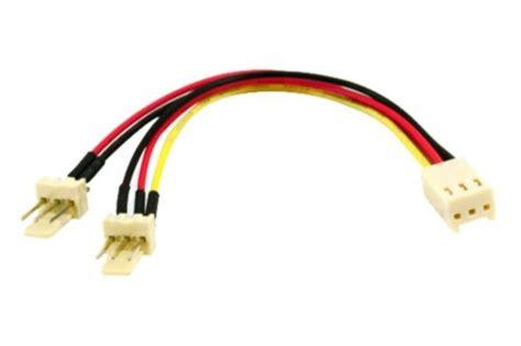 cpu fan adapter cable 3 pin to 2 x 3 pin computer case fan y splitter power