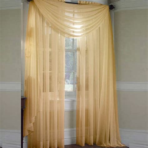 Scarf Drapes - scarf sheer voile door window curtains drape panel