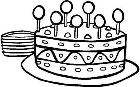 Happy Birthday Cake Coloring Page - Eskayalitim