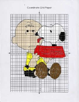 peanuts coordinate graphing charlie brown snoopy