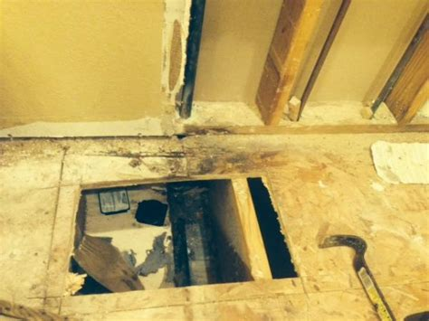 replacing rotted subfloor and sole plate in bathroom