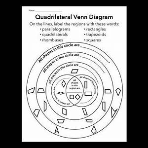 Triangle And Quadrilateral Venn Diagrams By Jennysweet