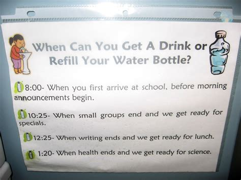 tips for teaching bathroom and water procedures 353 | drink sign