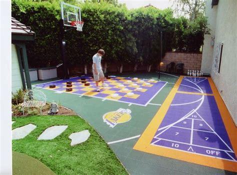 backyard basketball court ideas    family