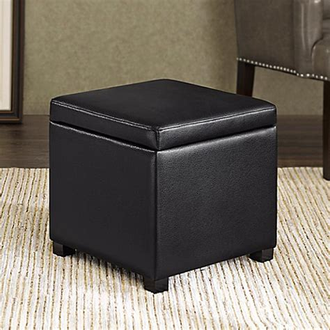 cube ottoman with tray regency heights maddox small cube storage ottoman www