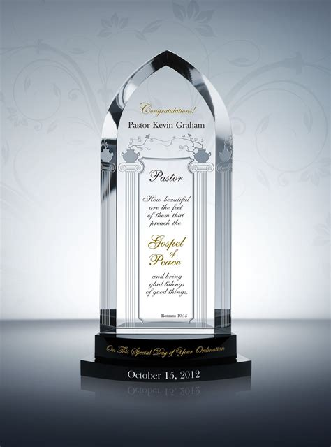cathedral ordination plaques pastor appreciation gifts