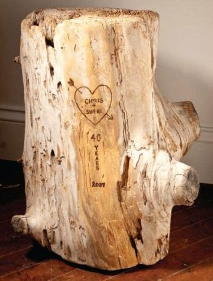 romantic woodburn carved driftwood  anniversary