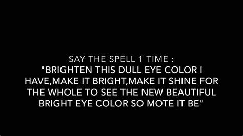 change eye color spell eye color change spell 3 my spell