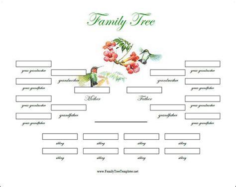 family tree template  siblings genealogy