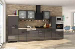 Roller Küchen Mit Elektrogeräten : k chenzeile k chenblock einbauk che mit elektroger ten 370 cm hochglanz grau ebay ~ A.2002-acura-tl-radio.info Haus und Dekorationen