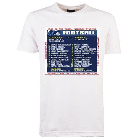 toffs fa cup final  liverpool retrotext  shirt