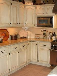 Hand painted and distressed kitchen cabinets similar to for Kitchen colors with white cabinets with hand made wall art