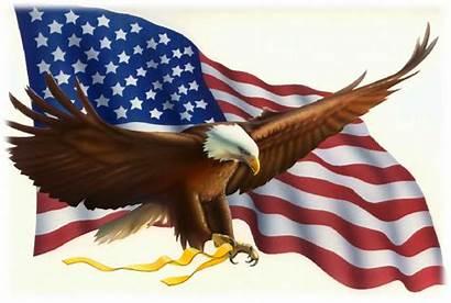 Flag Morning Birds Sing Eagle Leafy Treetops