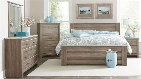 stonehill weathered oak poster mansion bedroom set