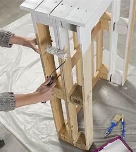 étagère En Palette : palettes tag res ou table roulettes edith magazine ~ Dallasstarsshop.com Idées de Décoration