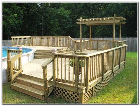 Above Ground Pool Deck Gallery by Pool Decks For Above Ground Pools Pictures Decks Home