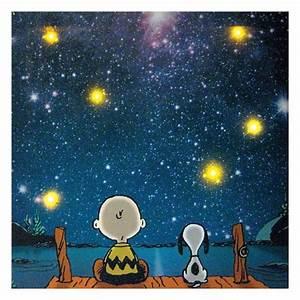 Wall art designs light up peanuts star gazing