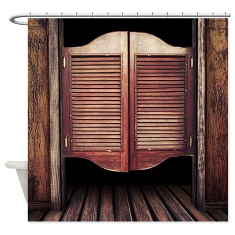 wild west saloon door shower curtain  wickeddesigns