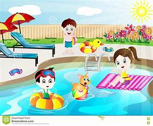 Swimming With Friends Clipart - ClipartXtras