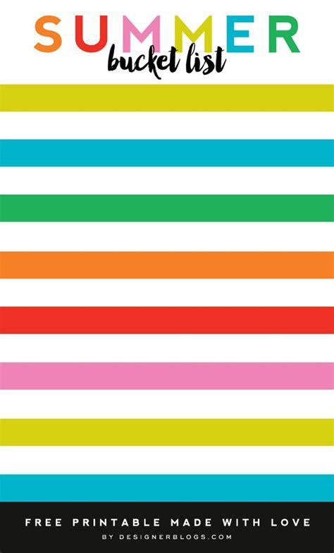 summer bucket list printable blog design blogger