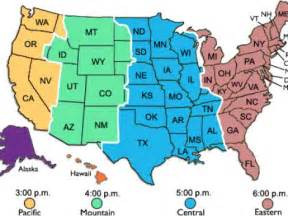 United States Time Zone Map
