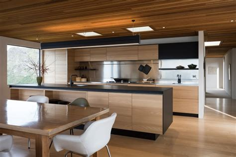 Sleek New Kitchen Has Both A Cleanlined Design…  Trends