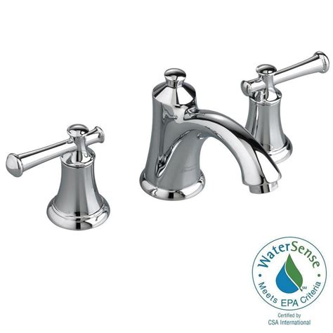 american standard hton 8 in widespread 2 handle low arc bathroom faucet in chrome with