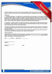 Sample Generic Resume Free Printable Employment Manual Employee Signature Form