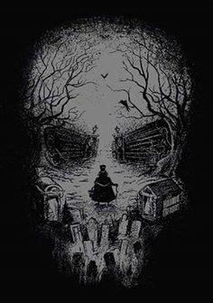 Dark Forest Skull Art Print Sitchko Igor Prints