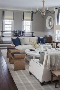 Distressed Pendant Light East Coast House With Blue And White Coastal Interiors