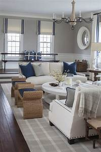 coastal living rooms East Coast House with Blue and White Coastal Interiors - Home Bunch Interior Design Ideas