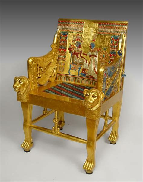 King Edwards Chair Replica by 274 King Tut Replica Throne Chair Lot 274