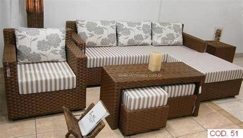 sofa de vime para area externa poltrona e sof 225 de fibra sint 233 tica mesa e puff junco
